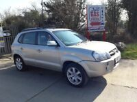 Hyundai Tucson CDX 4WD LPG & Petrol. Silver. Heated Leather Seats. Sunroof. DAB USD Stereo.