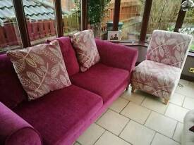 Three seater sofa and one matching chair