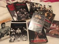 Bundle of boxing DVD's and books