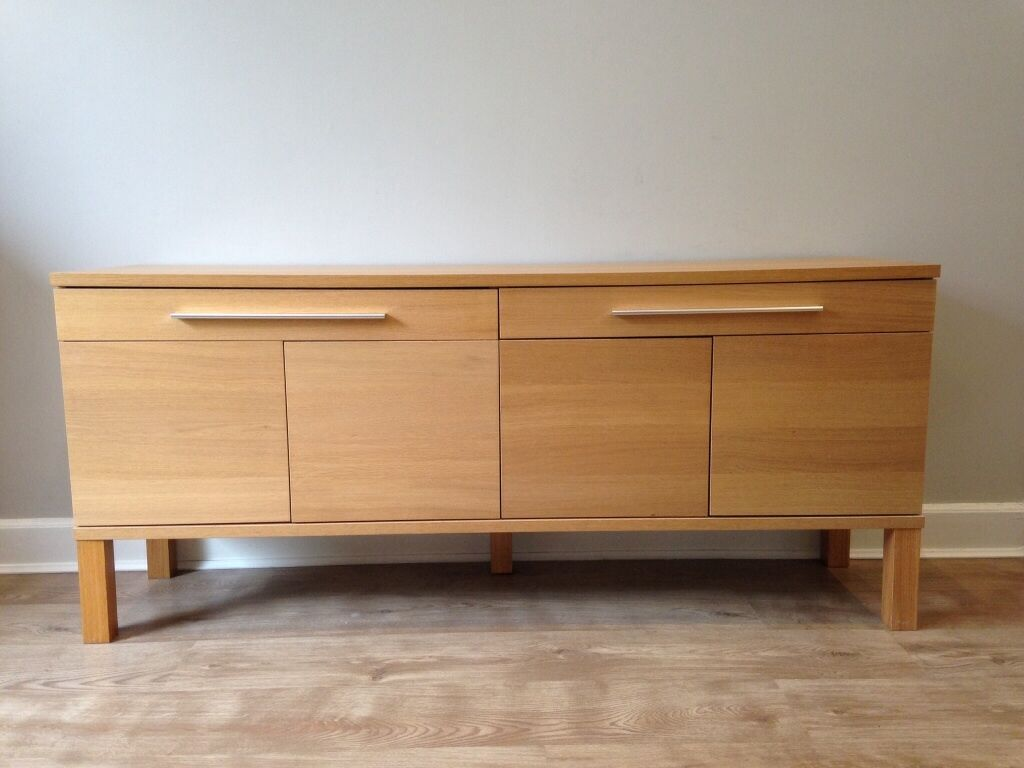 Ikea bjursta sideboard in oak in milngavie glasgow for Sideboard ikea