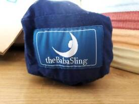 Navy Babasling baby carrier, as new