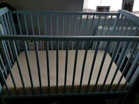 Boys Blue cot bed
