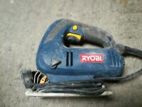 RYOBI JIGSAW (EJS-500) WITH ASSORTED BLADES FOR WOOD, METAL, PLASTIC ETC...