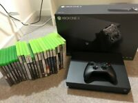 Microsoft Xbox One X 1TB + 25 Games + Play and Charge Kit - Barely Used