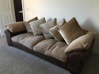 4 seater & 2 seater Fabric Sofa * reduced price * must let me know today or going to charity shop!