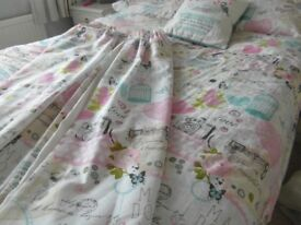 Double Duvet Cover, Pillowcases, Cushion and Matching Curtains - Catherine Lansfield