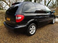 Chrysler Grand Voyager 7 seats Executive 08 reg 92k miles Auto in Black