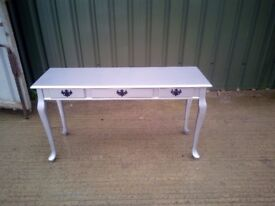 FREE DELIVERY, Silver Queen Anne Style Table, Side Table, Hall Table