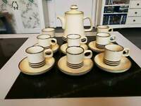 Denby sahara 15 piece coffee set.