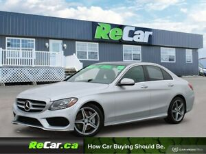 2015 Mercedes-Benz C-Class AWD | HEATED LEATHER | NAV | BACK...