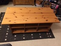Coffee table with 4 baskets - collection only
