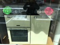 LEISURE 90CM BRAND NEW DUAL FUEL RANGE STYLE COOKER IN CREAM. R