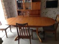 Dining Table Teak and 4 Chairs