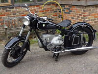 1956 IFA MZ BK350 2-Stroke boxer engined twin. Not BMW, but made in East Germany.