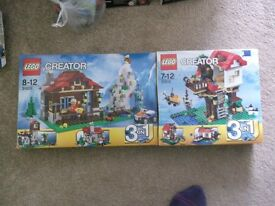 used lego creator houses sets 31010 and 31025