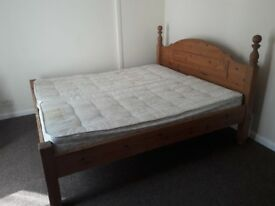 Super King size bed with mattresses