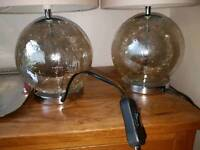 Pair of Next crackle glass lamps