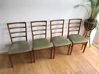 4 McIntosh Vintage Teak Dining Chairs