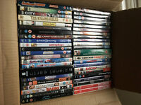Box and bag of Film DVD's