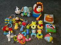 For baby from newborn. Toys bundle.