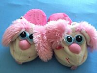 STOMPEZZ PERKY PINK PUPPY GIRLS SLIPPERS