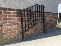 Ironwork handrail for steps