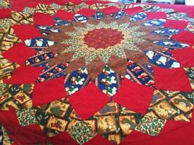 Hand made bed quilt