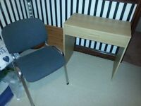 Small Wooden Desk in Ash with Chair