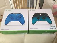 Two limited edition Xbox one controllers brand new!