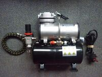 AirBrush Compressor with Tank - nearly NEW - Model COM-01 DMT + air hose