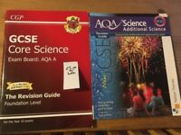 GCSE AQA Core Science & Additional Science Books x 2