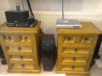 2x Solid Wooden Mexican Pine Chests. Being sold as a pair. Ideal for bedroom or Lounge.