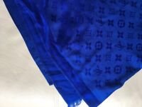 Louis Vuitton Blue Monogram Scarf New
