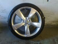 ALLOYS X 4 OF 18 INCH GENUINE AUDI/A3/5/SPOKE/ROTA/FULLY POWDERCOATED IN A STUNNING SHADOW/CHROME