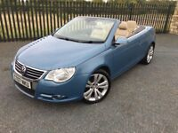 2007 07 VOLKSWAGEN E-OS 2.0 TDI SPORT *DIESEL* CONVERTIBLE 6 SPEED MANUAL - *MAY 2018 M.O.T*