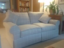 SOFA, Excellent condition, loose linen cover in Natural check, 3-seater