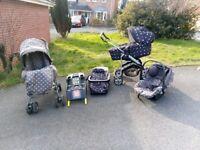 push chair/ pram / car seat/ isofix / travel system mamas and papas