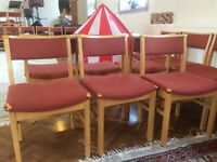 54 FREE WOODEN CHURCH CHAIRS