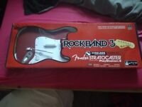 Rock Band 3 Stratocaster and PS3 Game Set