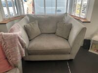 DFS Allure 4 seater sofa and cuddle chair