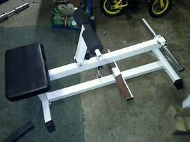 Seated calf raise machine for Olympic/standard plates
