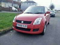2008 58plate SUZUKI SWIFT 1.2 PETROL RED MANUAL 1 OWNER SINCE NEW. EXCELLENT CONDITION