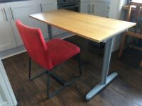 Ikea desk and chair - very good condition - Bekant range