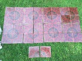 Vintage wall tiles Retro