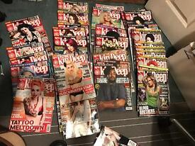 Huge tattoo magazine collection Skin Deep etc