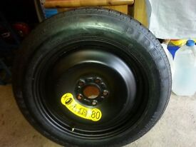 Ford Cmax Spare Space Saver Wheel, Tyre, Jack & Insert