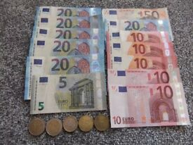 TOTAL OF 431 EURO'S LEFTOVER HOLIDAY MONEY. NOW GONE-SORRY NOW GONE
