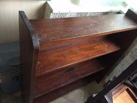 Dark oak antique book shelf