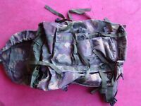 Ex-Army Green or Camo Rucksacks 66L