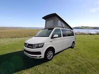 16 PLATE VW T6 LWB 102BHP HIGHLINE WITH ONLY 9,000 MILES IN CANDY WHITE